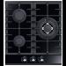 Keraaminen kaasuliesitaso Schlosser PGH451FFD, 45 cm, 3-liekkinen, musta