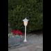 Aurinkokennopuutarhavalaisin Star Trading Flame LED, 155x630x155mm, valkoinen kuva6