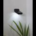 Aurinkokennoseinävalaisin Star Trading Wally LED, 80x55x110mm, musta kuva2