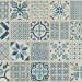 Vinyylilattia Tarkett, Starfloor Click 30, Retro - Indigo, laatta, sinivalkoinen