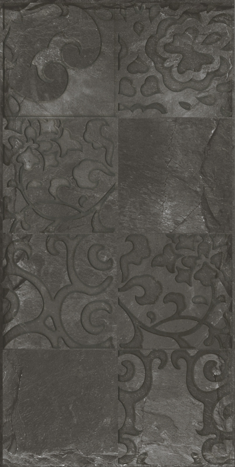 Seinälaatta Caisla Luxury Sobo Nero Decor, 300x600 mm, tummanharmaa