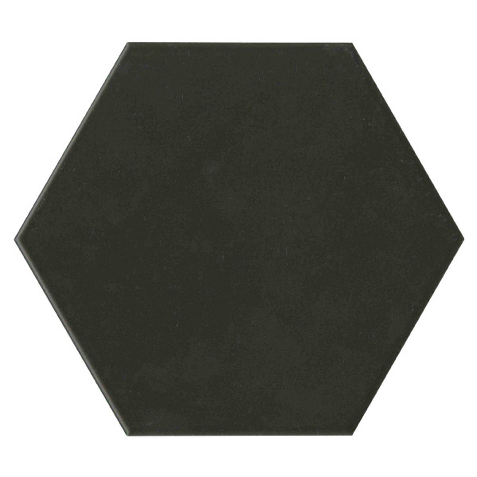 Keraaminen laatta Qualitystone Hexagon Black, 175 x 175 mm