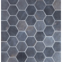 Marmorilaatta Qualitystone Hexagon Gray, 100 x 100 mm