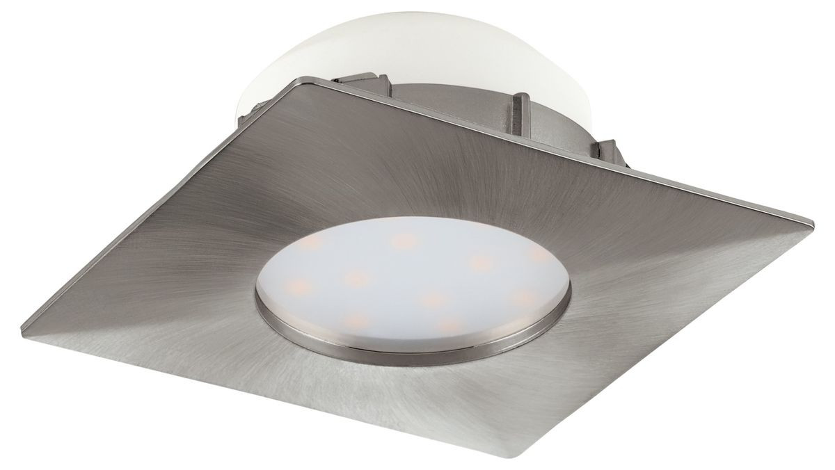 LED-alasvalo Eglo Pineda 6W, 78x78mm, teräs 95799