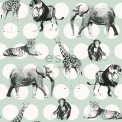 Tapetti Animals with Dots 128713 0,53x10,05 m minttu, hiilenmusta