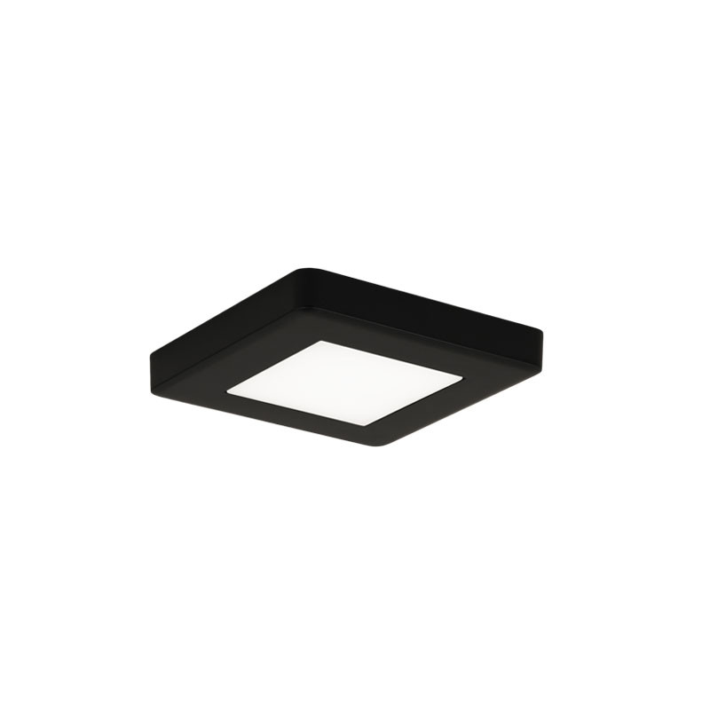 LED-kalustevalaisin Limente LED-Leno 19, 80x80x12mm, 4.2W musta