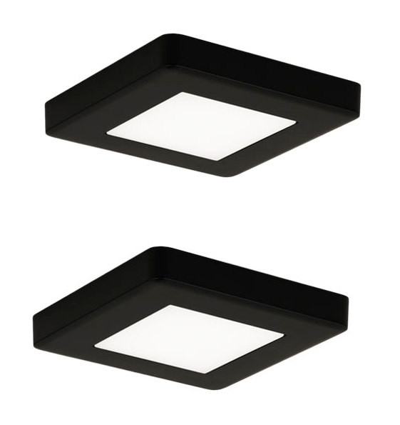 LED-kalustevalaisinsetti Limente LED-Leno 19, 80x80x12mm, 2x4.2W musta
