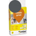 Saumalaasti Weber Classic Grout, 19 Anthracite, 15 kg