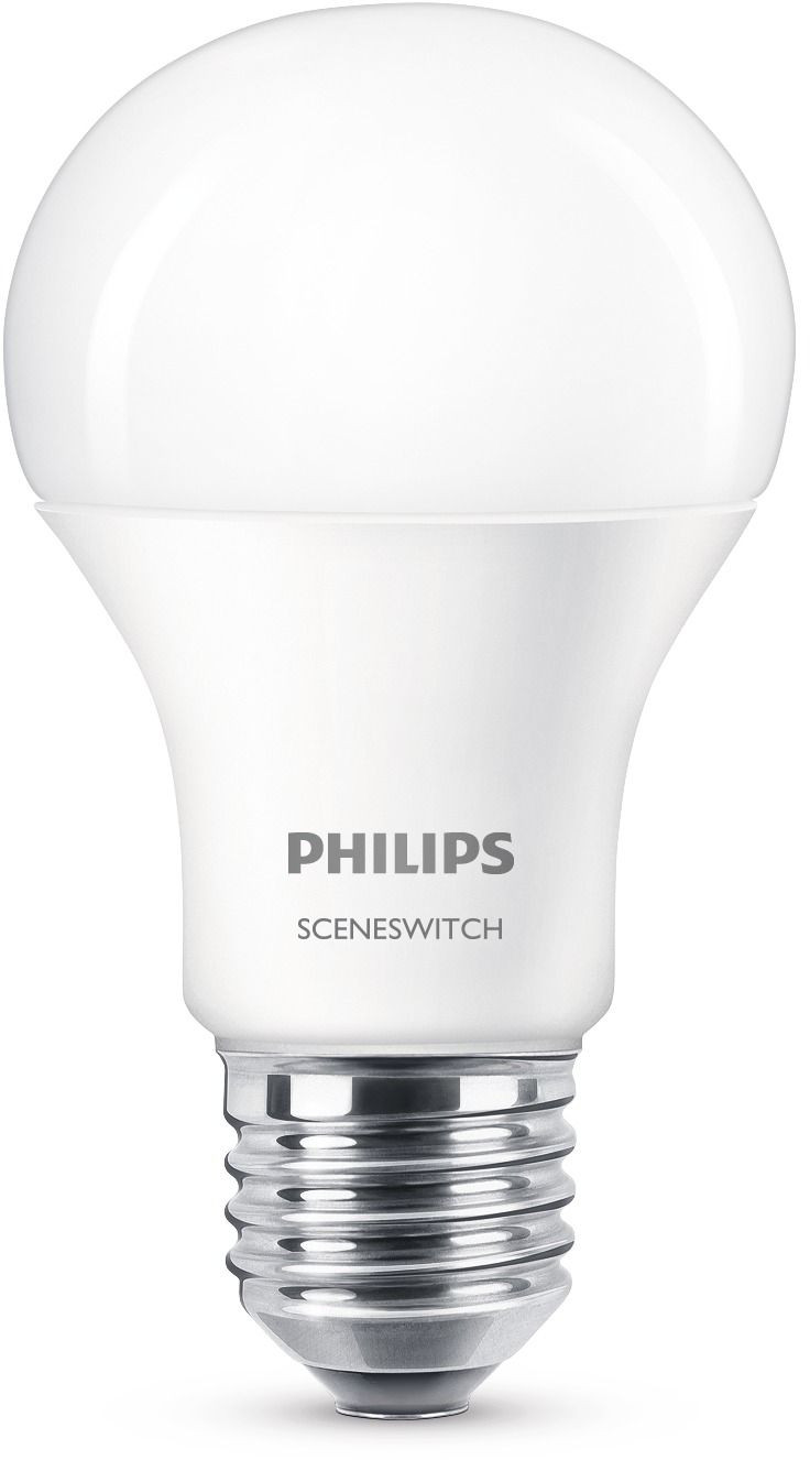 LED-lamppu Philips SceneSwitch, 9,5W (60W), A60, E27