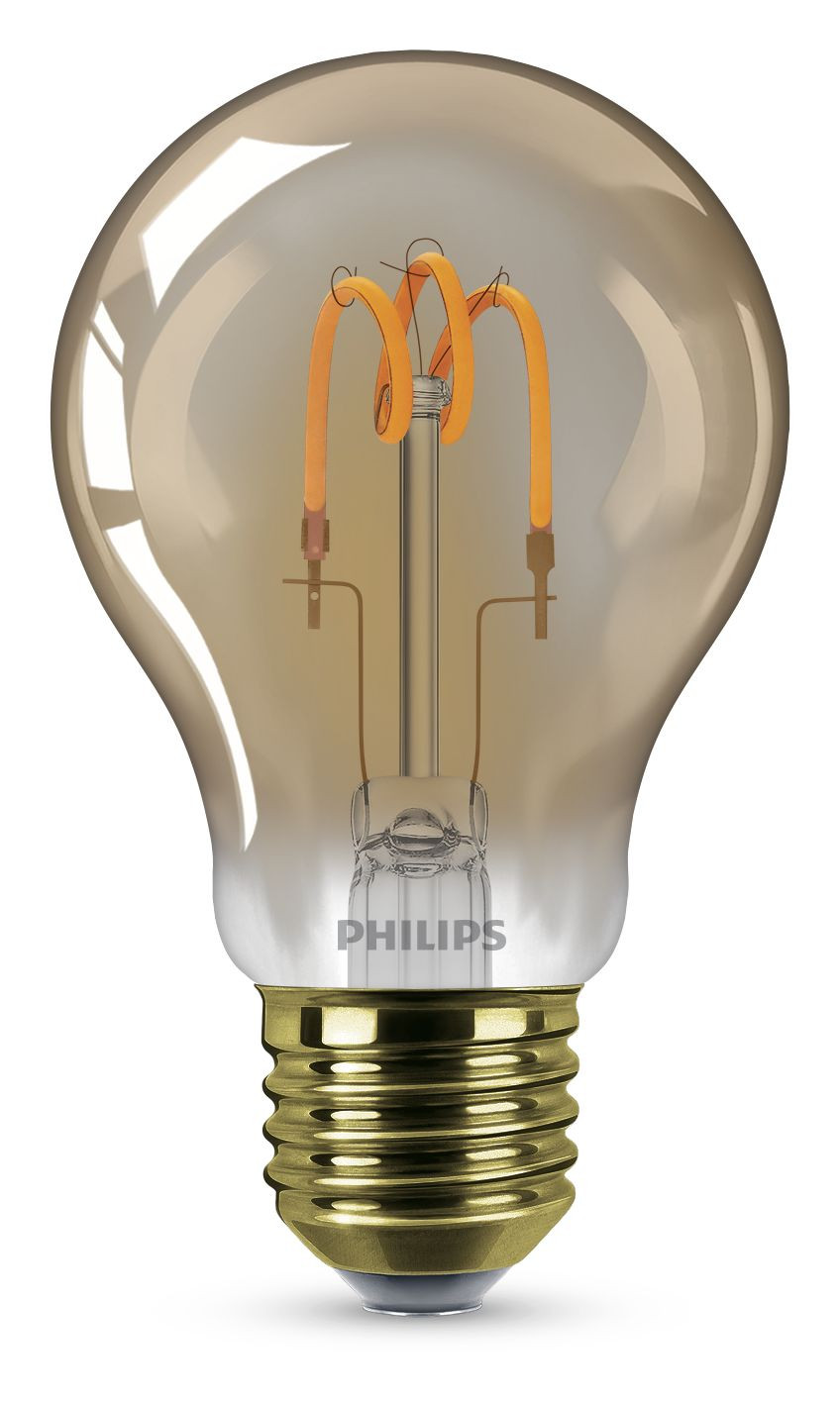 LED-lamppu Philips Spiral, 2,3W (14W), A60, E27, Gold