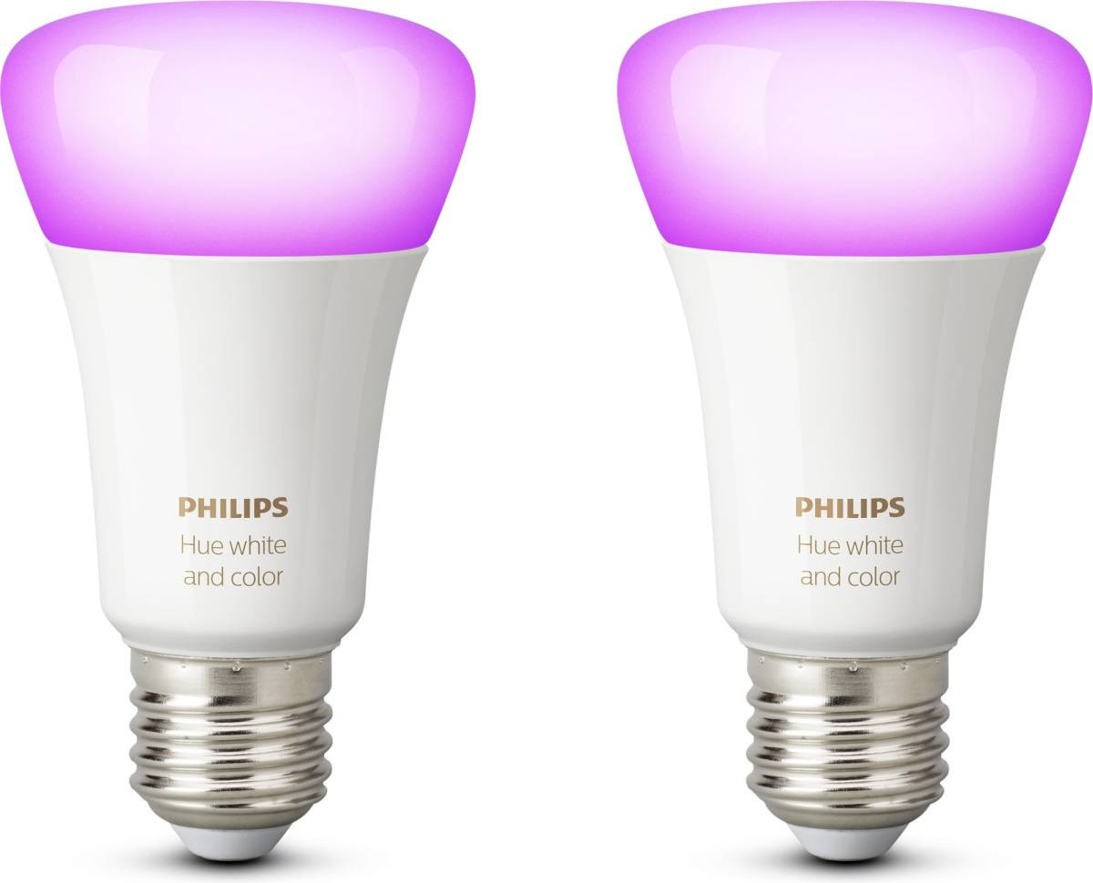 LED-lamppusetti Philips Hue, white and color ambiance, E27 2kpl