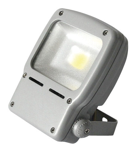 LED-valonheitin Airam Led Flood, 50W/840, 374x251x93mm, IP65, harmaa/huurrettu lasi