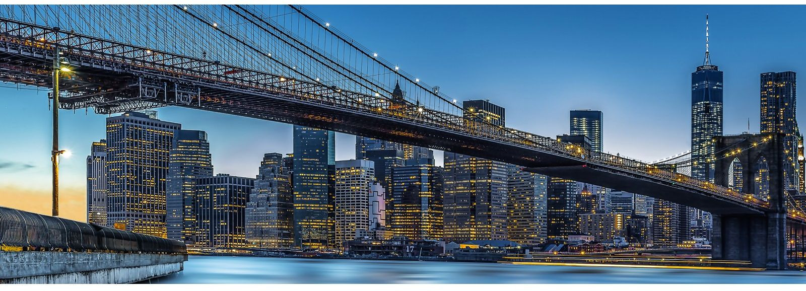 Valokuvatapetti Idealdecor, Blue Hour over New York 4-osaa, 00863 366x127 cm, non-woven