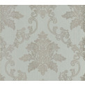 Tapetti 1838 Wallcoverings Hampton, sininen/hopea, 0,52x10,05m