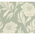 Tapetti 1838 Wallcoverings Chatsworth, sinivihreä, 0,52x10,05m