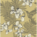 Tapetti 1838 Wallcoverings Hummingbird, keltainen, 0,52x10,05m