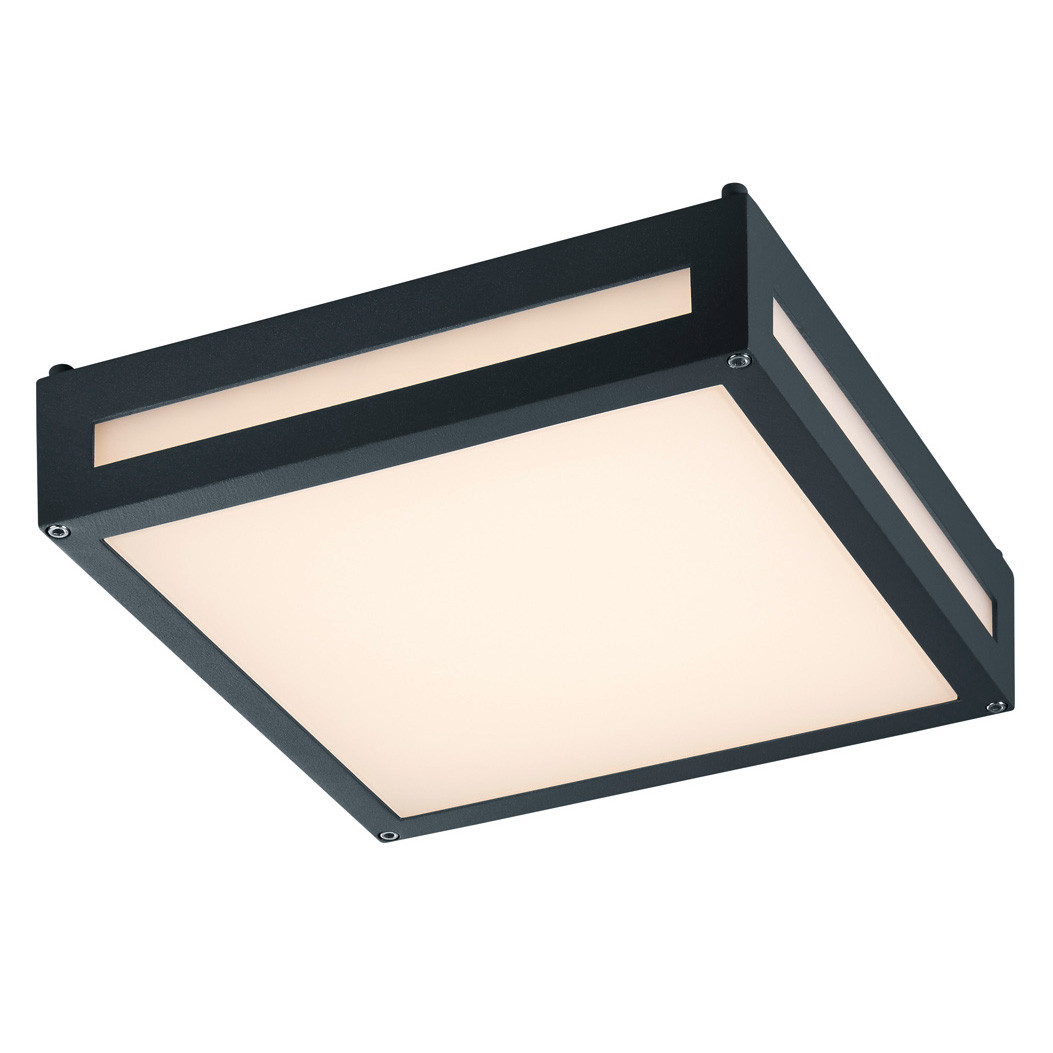 Trio-Katto/seinävalaisin Newa, 2x4W LED, IP54, musta