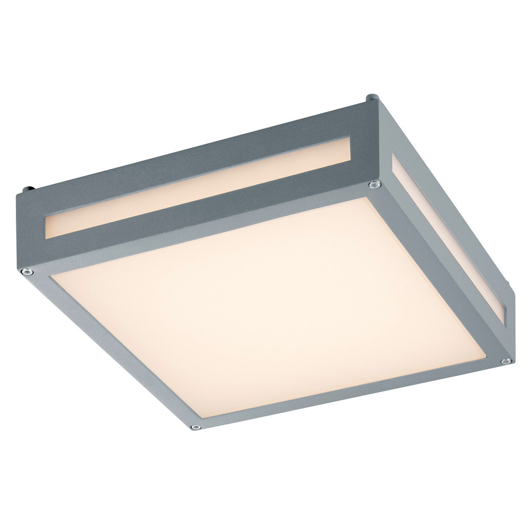 Trio-Katto/seinävalaisin Newa, 2x4W LED, IP54, harmaa