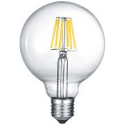 LED-Lamppu Trio E27, filament globe 6W, 810lm 2700K switch dimm