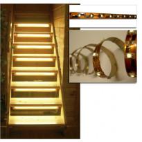 1m LED-valonauha, virtalähde 12V, liitinpää, lämminvalkoinen