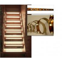 1m LED-valonauha, virtalähde 12V, liitinpää, valkoinen