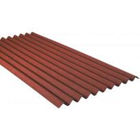 Bitumikatelevy Onduline 95x200cm punainen