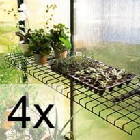 4 kpl Taittuva teräslankahylly vihreä 40x120 cm 5452