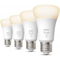 LED-älylamppu Philips Hue W, 9W, A60, E27, 4kpl
