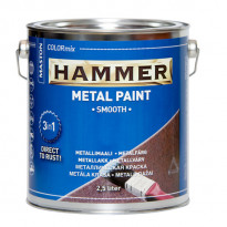 Metallimaali Hammer Sileä, 2,5l, eri värivaihtoehtoja