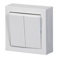 Kytkin Impressivo 5/16AX/250V/IP21 PPJ 2X valkoinen