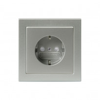 Pistorasia Impressivo 1S/16A/IP21 UPJ 0X alumiini