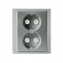 Pistorasia Impressivo 2S/16A/IP21 UPJ HL alumiini