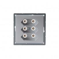 Pistorasia Impressivo 3E/2,5A/IP21 UKJ 2X alumiini