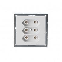 Pistorasia Impressivo 3E/2,5A/IP21 UKJ 2X valkoinen