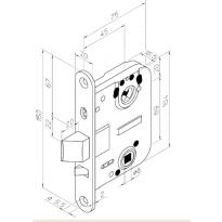 Välioven lukkorunko Abloy ST/JME 4260, oikea, VL0068 IPP