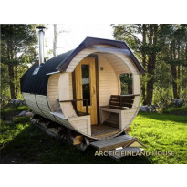 Tynnyrisauna Valter, ARCTIC FINLAND HOUSE, Ø 2.3x4.2 m