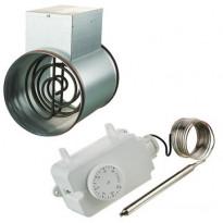Kanavalämmitin Airsec, 160mm/1200W + termostaatti