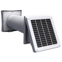 Korvausilmaventtiili 100 aurinkokennolla ja puhaltimella