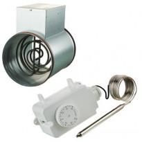 Kanavalämmitin Airsec, 160mm/2400W + termostaatti, Verkkokaupan poistotuote