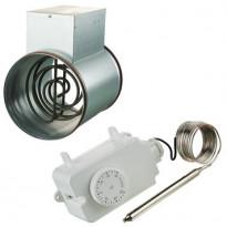 Kanavalämmitin Airsec, 125mm/1200W + termostaatti