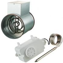 Kanavalämmitin Airsec, 200mm/1200W + termostaatti