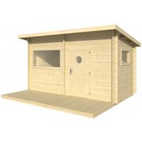 Sauna Polhus Paavo, 3595x4196x2498 mm, 8 m2, 44 mm