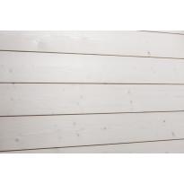 Saunapaneeli Aure Kuusi STS/V PN, 18x145x2370mm, kuultovalkoinen saunasuoja
