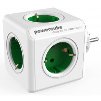Pistorasia Allocacoc PowerCube Original, 5-osainen, vihreä/valkoinen