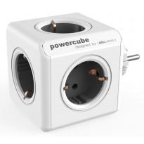 Pistorasia Allocacoc PowerCube Original, 5-osainen, harmaa/valkoinen