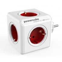 Pistorasia Allocacoc PowerCube Original, 5-osainen, punainen/valkoinen