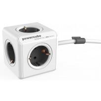 Jatkojohto Allocacoc PowerCube Extended, 1,5m, 5-osainen, harmaa/valkoinen