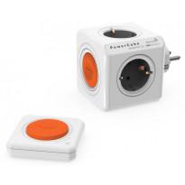 Pistorasia Allocacoc PowerCube Original Remote set, 4-osainen, oranssi/valkoinen