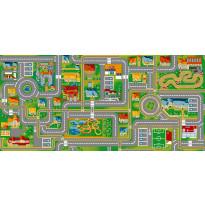 Lastenhuoneen matto Play City Liikenne, eri kokoja