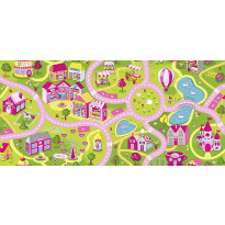 Lastenhuoneen matto Sweet Town Liikenne, eri kokoja